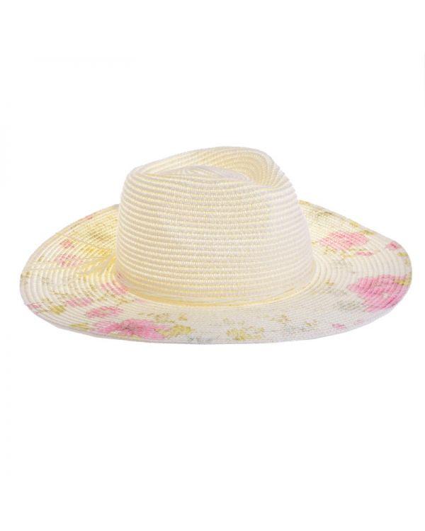 Καπέλο Ψάθινο Floral