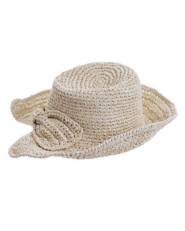 Καπέλο Ψάθινο Με Φιόγκο Πίσω