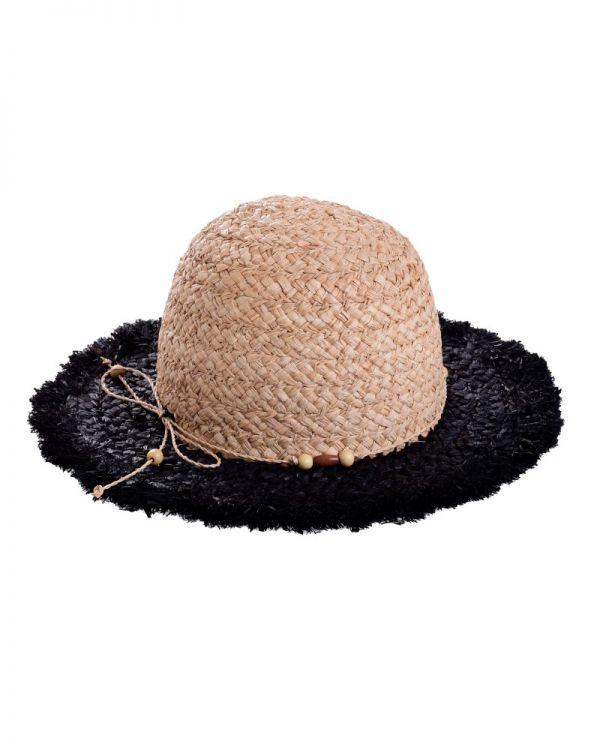 Καπέλο Ψάθινο Δίχρωμο