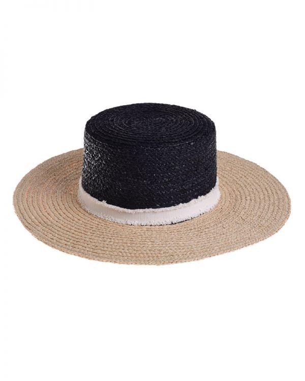 Καπέλο Ψάθινο Τρίχρωμο