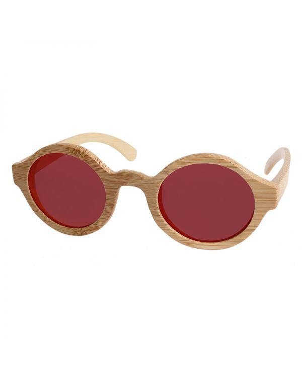 Γυαλιά Ηλίου Στρογγυλά Ξύλινα